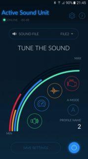 Active Sound Unit - aplikácia